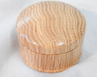 Graduation gift, petite wood box, oak ring box, tan wood box