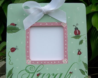 Picture Photo Frame Baby Kids Nursery Personalized Sweet Lady Bugs