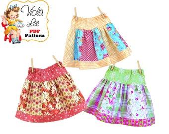 Girls Skirt Pattern, Ruffle Skirt Pattern, Toddler Skirt Pattern. Girls Sewing Patterns. Infant Skirt Pattern, Toddler Sewing Patterns, Sara