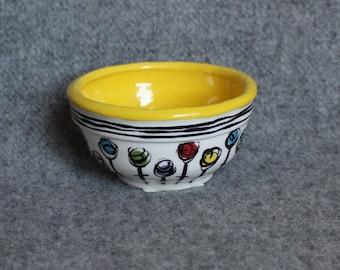Fun Flowers Mini Bowl, Teacher Appreciation, Stripes, Food prep bowls, dip bowls, jewelry dish, snack bowl, gift card holder, housewarming