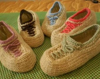 Women boy girl slipper socks. Mаn socks. Hand knit wool slipper socks. Wool socks. Bed socks. House socks. Indoor socks. Birthday present.