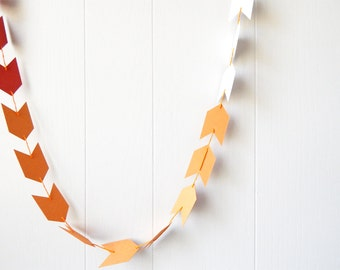 Ombre Arrow Garland / Ombre Arrow Bunting in Burnt Orange and Pumpkin Orange