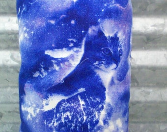 """Celestial Cats Catnip Toy Pillow Wrestler - Blue Kitty Kick Stick - Gifts for Cats and Cat Lovers - 11"""" X 4 3/4"""""""