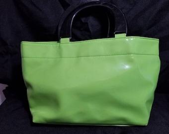 Lime green vinyl bag