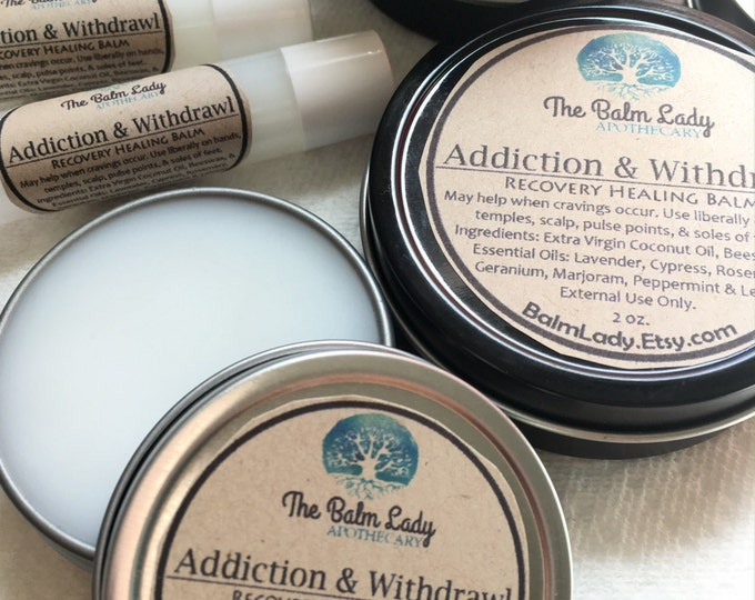 Addiction & Withdrawal Healing Recovery Balm For Cravings. For all addictions, food, sugar, caffeine, tobacco, nicotine addiction, salve