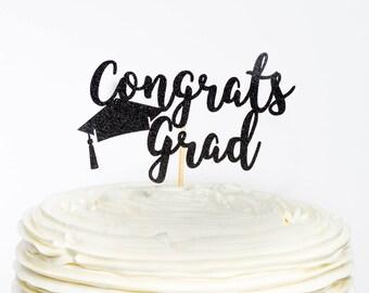 Conrats Grad Cake Topper, Class of 2018 Graduation Cake Topper, Graduation Topper, Graduation Cake Topper, Graduation Party, Class of 2018,