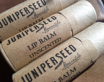 Unscented Lip Balm or Anywhere Balm - Compostable Plastic Free Cardboard Packaging