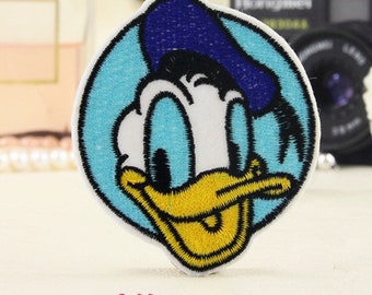 Donald Duck Face Iron On Patch/ Embroidered Patch/ Disney Donald Duck Patch /Embroidered Applique