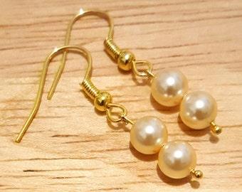 PRICE DROP*** Handmade Swarovski Pearl Drop Earrings