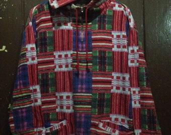 Rare zakanaka colourblok colourfull hoodie