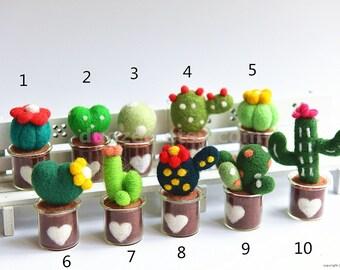 Handmade Needle Felted Cactus Succulent, Succulent Lover, Miniature Cactus, Miniature Cacti, Miniature Plants, Fairy Garden, Fairy House