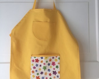 Childrens yellow apron