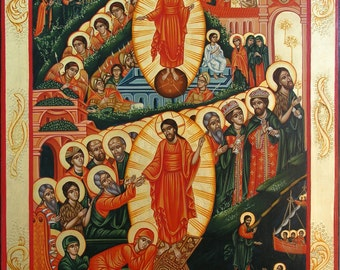 Resurrection and Descent Into Limbo,made to order, Russian icon, Byzantine icon, religious gift, orthodox icon, Christmas gift,Name day gift