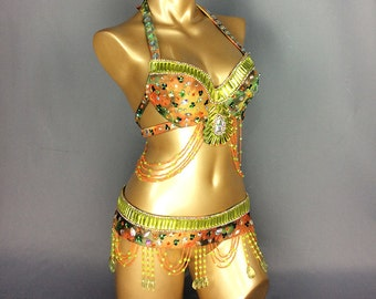 Free shipping made to measure new belly dance costume set BRA+belt 2piece/ set