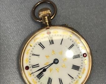 Victorian era Ladies Pocket Watch 14k case