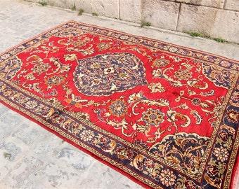Vintage Turkish Konya Rug Vintage Turkish Rug, Anatolian Rug, Hand Made Rug, Home Decor