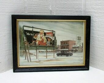 Vintage COCA-COLA Advertising Framed Print By Paul Brown