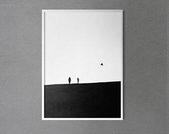 Minimalist Black and White Photography / Minimal Print / Monochrome Photo / Elegant Wall Decor/ Living Room Decor / Wall Art / Bedroom Decor