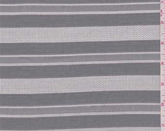 Silver/Grey Organza Stripe, Fabric By The Yard