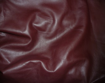 """Leather 8""""x10"""" KING Dark Maroon / Burgundy full Grain Cowhide 3 oz / 1.2mm PeggySueAlso™ E2881-19 Full hides available"""