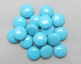 Blue Magnesite 12mm Lentil Beads - 18 pieces #P5-8