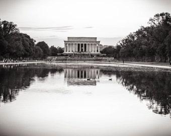 Lincoln Memorial, Washington DC Photography, Canvas Print, Paper Print, Washington DC Art, Black and White, Home Decor, Office Decor