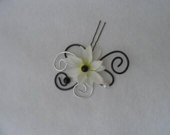 Hair - black white and silver - bridal hair