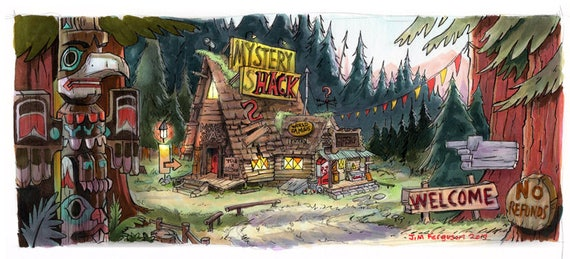 Gravity Falls - The Mystery Shack Poster Print