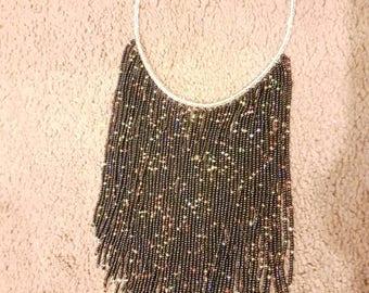 Zulu Black beaded necklace