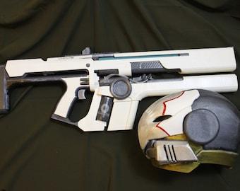 Cosplay destiny 2 Celestial NightHawk Helmet and rifle