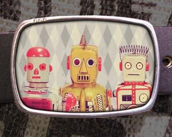Robot Friends Belt Buckle, Vintage Inspired, Geekery 577 Gift for Him or Her Husband Wife  Gift Groomsmen Wedding
