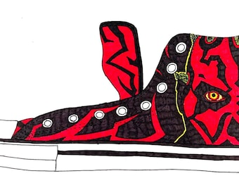 Custom Chucks - Darth Maul