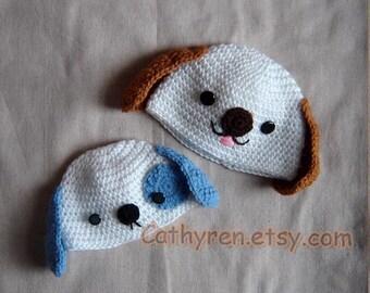 Puppy Hat, New Born -Teen,INSTANT DOWNLOAD Crochet Pattern