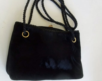 Black Velvet Evening Bag