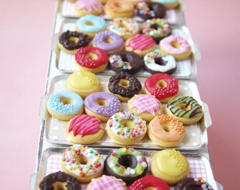 RESERVED FOR JESSIE ---- Happy Donuts  - 1/12 miniature