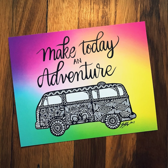 Zentangle - Make Today an Adventure (colorful)