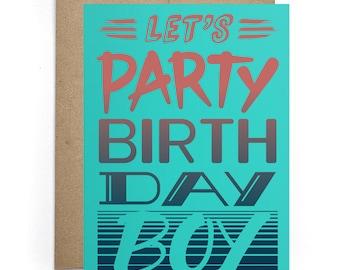 Bday Cards for Him, Birthday Humor Card, Fiance Birthday Card, Party Card, Bday Card, Boyfriend Bday Card