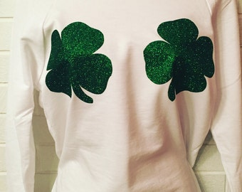 St. Patricks Day Slouchy Long Sleeve Shirt