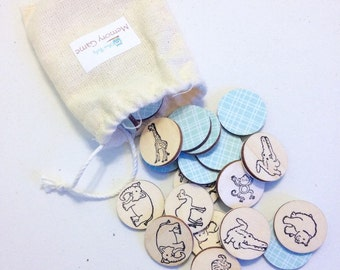 Small Wooden Memory Game