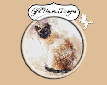 Siamese Cat Cross Stitch Pattern