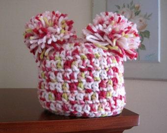Crochet Baby Hat, Crochet Newborn Hat, Crochet Infant Hat, Baby Girl Hat, Girl Newborn Hat, Infant Girl Hat, Baby Beanie, Newborn Beanie Red