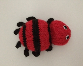 Knitted Spider Soft Toy - Spider Stuffed Toy - Spider Stuffed Animal