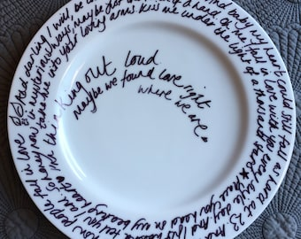 Personalised Plate – Wedding or Engagement