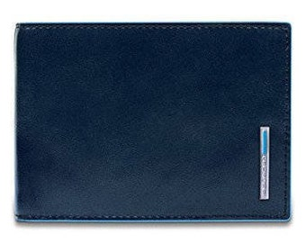 Wallet Piquadro Blue Square Credit Card Holder Pu1241b2r Blue2