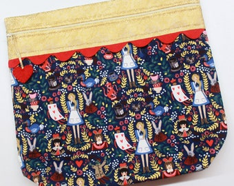 MORE2LUV Alice in Wonderland Cross Stitch Embroidery Project Bag