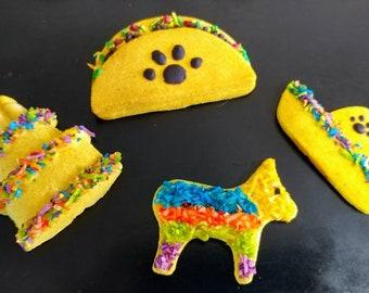 Fiesta Dog Treats *Taco, Pinatas, Sombrero, Cake* Cinco de Mayo* Grain Free!