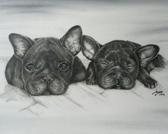 Custom Pet Portrait Commission painting acrylicpainting dog Art Artwork custom Pet portrait original artwork wall art gift idea