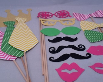 Dots and Chevron Lemonade Stand Party Lemonade Birthday Party Photo Props  Pink Lemonade Party