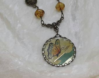 Antique Candy Tin Necklace