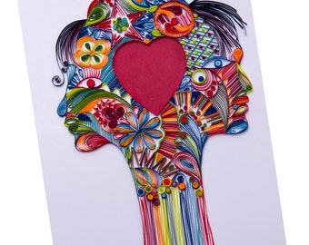 Quilling Art - Pure spirit of love